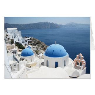 Härliga Santorini Grekland Hälsningskort