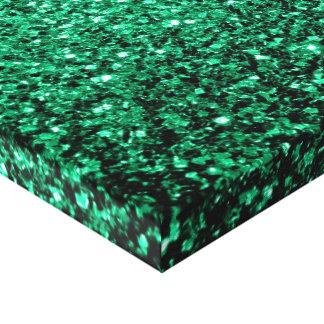 Härliga sparkles för smaragdgröntglitter canvastryck