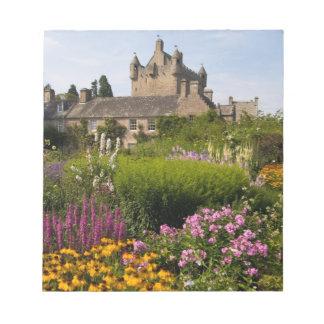 Härliga trädgårdar och berömdt slott i Skottland Anteckningsblock