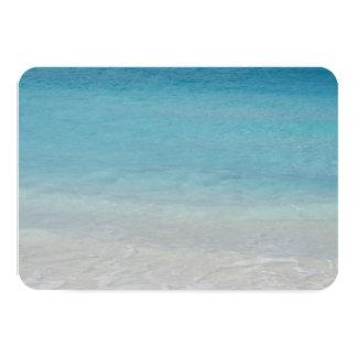 Härliga Turks för strand   och Caicos foto 8,9 X 12,7 Cm Inbjudningskort