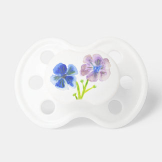 Härliga vattenfärgblått- och lilaanemoner napp