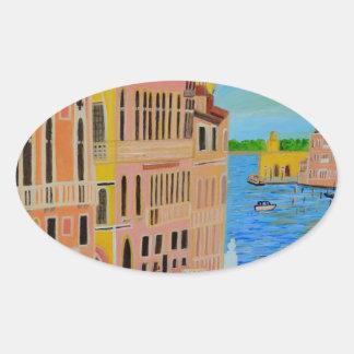 Härliga Venedig 2 Ovalt Klistermärke