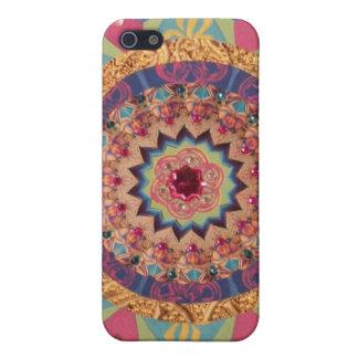 Härligt abstrakt Mandalatelefonfodral iPhone 5 Hud