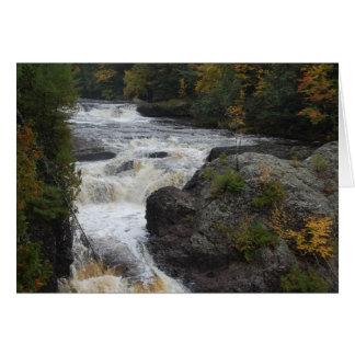Härligt anpassadevattenfallfoto hälsningskort