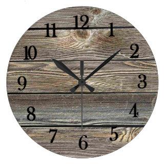 Härligt autentiskt tittar wood horisontaltryck stor klocka