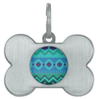Härligt Aztec tryck ID-bricka Husdjur