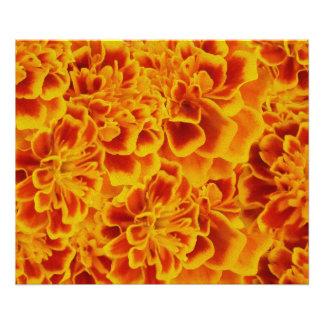 Härligt blom- tryck för orange- och vitVictorian Foton