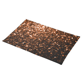Härligt brons sparkles för orangebruntglitter bordstablett