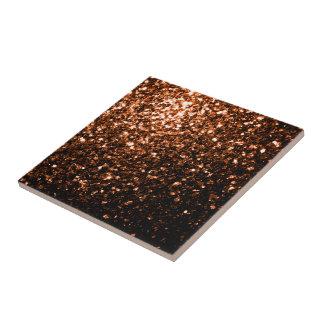 Härligt brons sparkles för orangebruntglitter liten kakelplatta
