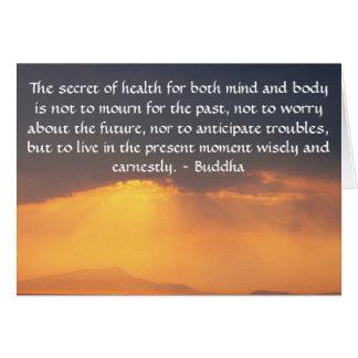 Härligt buddistiskt citationstecken med det hälsningskort