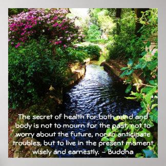 Härligt buddistiskt citationstecken om vård- och h poster