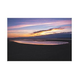 Härligt foto för Atlantic Ocean solnedgångTide ut Canvastryck
