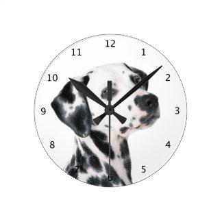 Härligt foto för Dalmatian hund Medium Rund Klocka