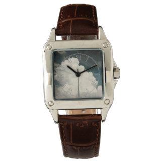 Härligt foto för molnnaturhimmel armbandsur