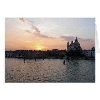 Härligt fotografera av den Venedig lagunen Hälsningskort