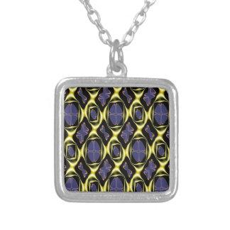 Härligt guld- & blåttmönster, åtskillig produkt Se Silverpläterat Halsband