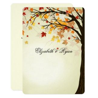 Härligt höst färger, höstbröllop 12,7 x 17,8 cm inbjudningskort