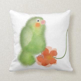 """Härligt kudde den gröna fågel""""Lovebirds"""" samlingen"""