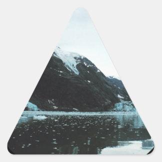Härligt landskap platsen triangelformat klistermärke