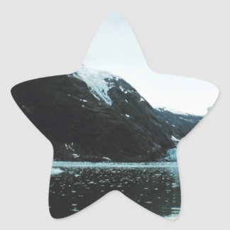 Härligt landskap platsen stjärnformat klistermärke