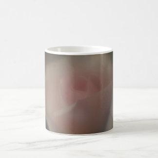 Härligt mjukt fokuserar den Lens rosa rosmuggen Kaffemugg