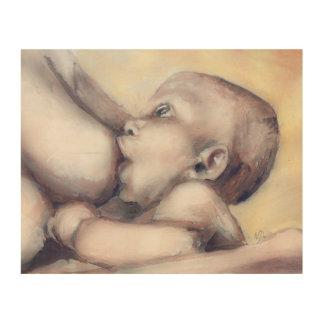 Härligt moderskap - konst för sjukvårdblickträ trätavla