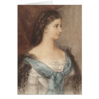 Härligt porträtt av empressen Elisabet - Sisi Hälsningskort