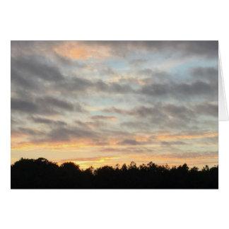 Härligt solnedgångkort hälsningskort