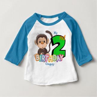 Härma den 2nd födelsedagsfestanpassningsbar tee shirts