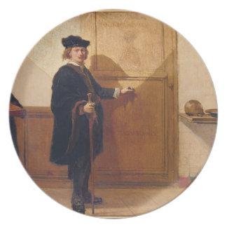 Harmensz skåpbil Rijn Rembrandt 1606-69 som knac Dinner Plates