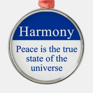 Harmoni- & fredpåfyllning universum julgransprydnad metall