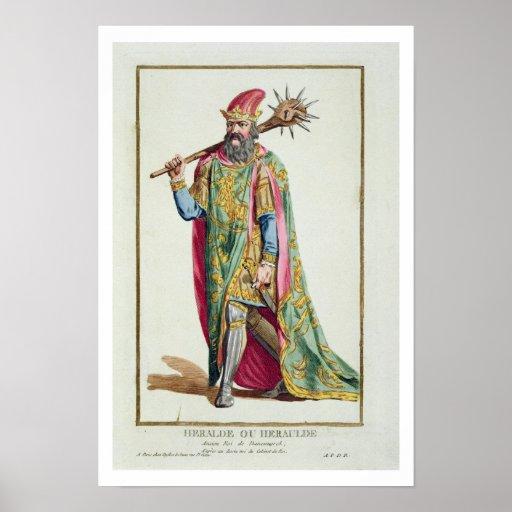 Harold kung av Danmark från 'Receuil des Estampes Posters