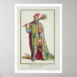 Harold kung av Danmark från 'Receuil des Estampes Poster