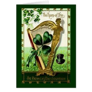 Harpa av det Tara kortet Hälsningskort