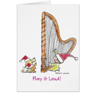 Harpa för jul CH-004 Hälsningskort
