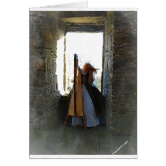Harpa från det förgångna kortet med bibelVerse Hälsningskort