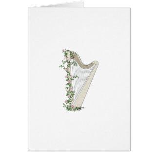 Harpa med ro hälsningskort