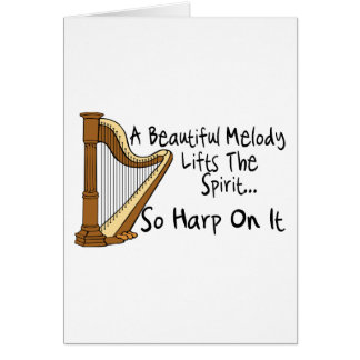 Harpa på den hälsningskort