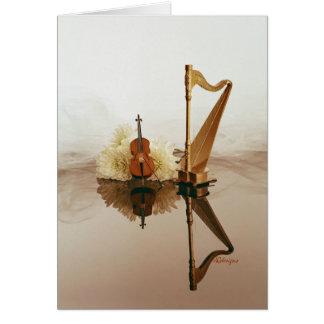 Harpa- & violoncellkort hälsningskort