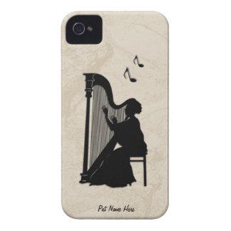 Harpaspelareipod touch case personifierar iPhone 4 Case-Mate skal