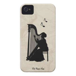 Harpaspelareipod touch case personifierar iPhone 4 hud