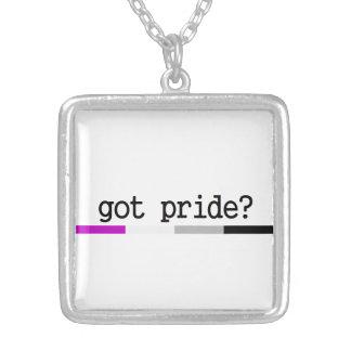 Harpride? Asexual pridehalsband Halsband Med Fyrkantigt Hängsmycke