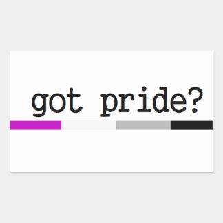 Harpride? Asexual prideklistermärke Rektangulärt Klistermärke