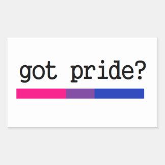 Harpride? Bisexuell Biprideklistermärke Rektangulärt Klistermärke