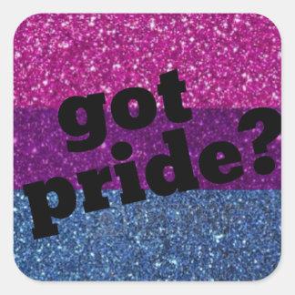 Harpride? Bisexuell prideklistermärke Fyrkantigt Klistermärke