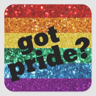 Harpride? Gay prideklistermärke Fyrkantigt Klistermärke