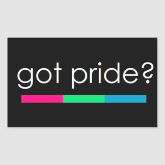 Harpride? Polysexual prideklistermärke Rektangulärt Klistermärke