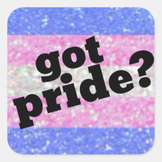 Harpride? Transgenderprideklistermärke Fyrkantigt Klistermärke