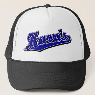 Harris i blått truckerkeps