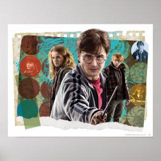 Harry, Hermione och Ron 1 Print